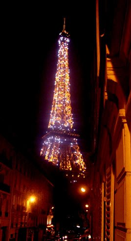 one block from the Eiffel Tower and Champs de Mars ... 2 blocks from the Seine, 3 blocks from the markets and shops of Rue Cler to the east and Trocodero Square's museums and restaurants to the north.